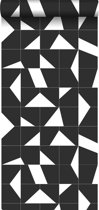 ESTAhome behang tegelmotief zwart wit - 139087 - 0.53 x 10.05 m