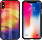 BackCover Aurora Glass voor Apple iPhone X/XS Paars