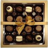 Belgische chocolade - bonbons - melk chocolade - witte chocolade - pure chocolade - 16 vaks