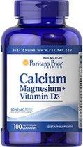 Puritan's Pride Calcium Magnesium Citrate & Vitamin D - 100 capsules