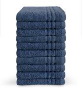 Byrklund – Badhanddoek – Blauw – 50 x 100 cm – Set van 10