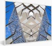 Foto in lijst - Prachtige afbeelding van de Titanic Belfast fotolijst wit 40x30 cm - Poster in lijst (Wanddecoratie woonkamer / slaapkamer)