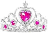 Anna Frozen kroon roze steen / tiara bij Anna of Elsa  Prinsessen jurk