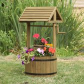 Wensput 'Wishing Well' houten bloembak