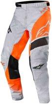 Alpinestars Crossbroek Racer Supermatic Light Gray/Fluor Orange/Black-32