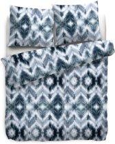 Heckett Lane Tholson Dekbedovertrek - Eenpersoons - 140x200 + 70x90 cm - Blauw