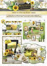 Beautiful Sunflowers - 3D Stansblok - Om 12 kaarten te maken
