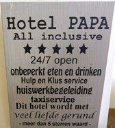 hotel papa steigerhout grijs 30x40cm