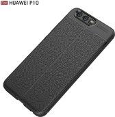 Let op type!! Voor Huawei P10 Litchi textuur TPU beschermende Back Cover Case (zwart)