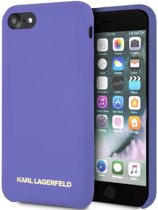 """Karl Lagerfeld Silicone Case - Apple iPhone 8 (4.7"""") - Paars"""