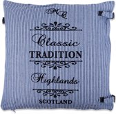In The Mood Sierkussen - Tradition-Stripe 50x50 cm - Faded Blue