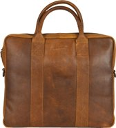 DSTRCT Limited - Laptoptas - 14 inch - cognac