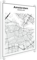 Stadskaart - Amsterdam Plexiglas 50x70 cm - Plattegrond