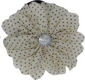 Jessidress Haarelastiekje Bloemen met stippen - Beige