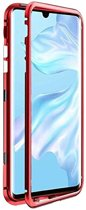 Teleplus Huawei P30 Pro Metal Frame Magnet 360 Cover Case Red