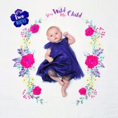 Lulujo Baby's First Year swaddle & cards - Stay Wild My Child