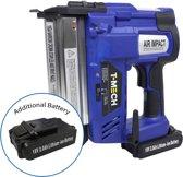 T-Mech Nietpistool Elektrisch / Accu - Nietmachine Elektrisch - Nagelpistool - 2 Batterijen