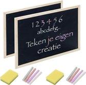 Premium Krijtbord met 13 Accessoires – Kinderspeelgoed – Memobord in A4 Formaat – Schoolbord - Tekenen