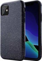 Apple iPhone 11 Glitter TPU Back Hoesje - Zwart - van Bixb