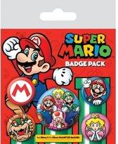 NINTENDO - Pack 5 Badges - Super Mario