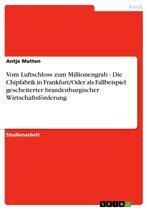 Vom Luftschloss zum Millionengrab - Die Chipfabrik in Frankfurt/Oder als Fallbeispiel gescheiterter brandenburgischer Wirtschaftsförderung