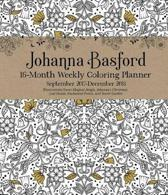 Johanna Basford 2017-2018 16-Month Coloring Diary