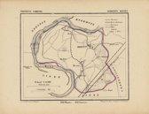Historische kaart, plattegrond van gemeente Herten in Limburg uit 1867 door Kuyper van Kaartcadeau.com