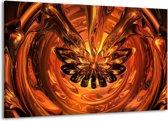 Canvas schilderij Abstract   Goud, Geel, Bruin   140x90cm 1Luik