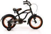 Popal Black Fighter Cruiser B1400 - Kinderfiets - 14 Inch - Jongens - Mat Zwart