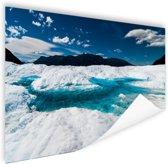 Gletsjer met meer Poster 120x80 cm - Foto print op Poster (wanddecoratie)