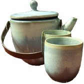 Fine Asianliving Cloudy Blauw Thee Set/3