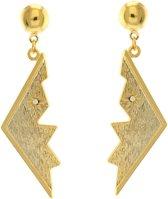 Behave® Dames Oorbellen hangers goud-kleur 5 cm