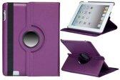 iPad 2/3/4 hoes 360 graden roteerbaar PU Leder Paars