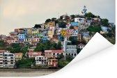 Kleurrijke huizen op de heuvel in Guayaquil Poster 180x120 cm - Foto print op Poster (wanddecoratie woonkamer / slaapkamer) XXL / Groot formaat!