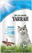 Yarrah biologische kattensnack kauwsticks rund en vis - 5 st à 15 gr