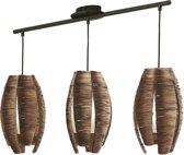 EGLO Mongu Hanglamp - 3 Lichts - Bruin, Wit