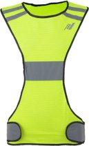 Rucanor Safety Running Vest X - Veiligheidshesje - Fluor Geel - Reflectie - Maat L
