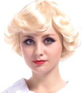 Korte blonde vintage pruik voor vrouwen - Verkleedpruik