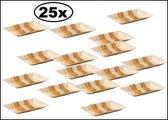25x Bord palmblad rechthoekig 25x16cm