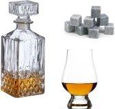 ProLiquor - Whiskey set - 3 onderdelen - Karaf - Glencairn degustatieglazen (6 stuks) - Whiskey stenen (9 stuks) | Luxe kadoset - Whisky bible 2019 - Whisky set - Whisky glas - Whisky glazen - Whisky stenen - Whiskey karaf - Whiskeyglazen