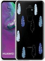 Huawei Mate 20 Hoesje Feathers Pattern