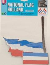 Stickerset van de Nederlandse vlag