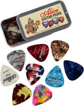 24 Plectrums in blikken doosje - Celluloid plectrum set