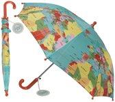 Kinderparaplu met wereldkaart - Wereldkaarten.nl