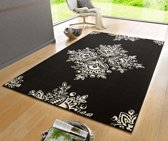 Modern vloerkleed Blossom - zwart 160x230 cm