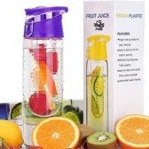 XL Fruit Infuser - Fruitwater Fruit Filter Fles - BPA Vrij- Fruitfilter Sport Fles - Paars