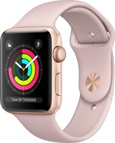 Apple Watch Series 3 - Smartwatch 42mm - Goudkleurig Aluminium / Roze Sportband