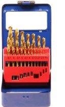 Metaalborenset 19-delig in metalen box
