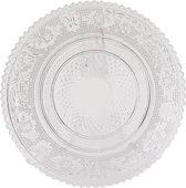 Clayre & Eef 6GL0221 - Bord - Doorsnede/hoogte: 15 cm - glas - Transparant