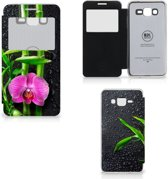 Samsung Galaxy Grand Prime Hoes Orchidee met Venster